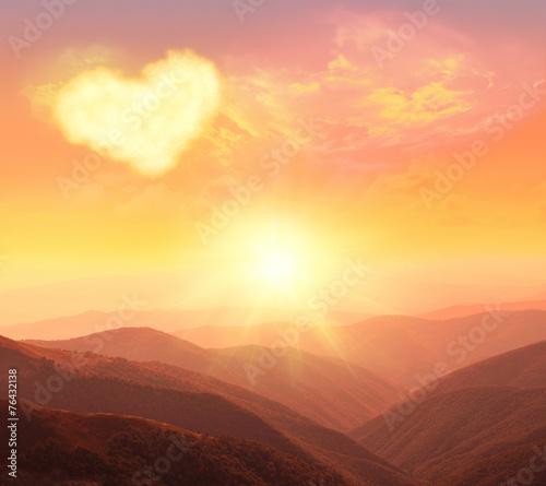 Foto op Aluminium Bergen heart, love and Valentines day