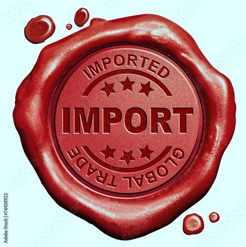 Valokuva  import stamp