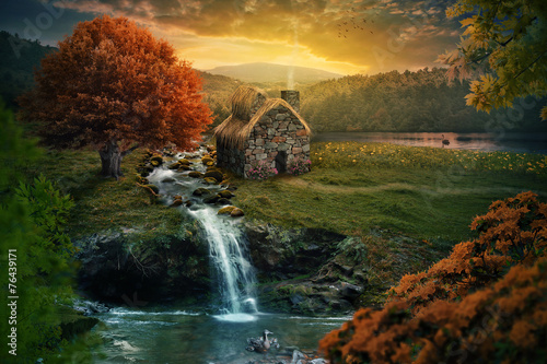 Fotografia Peaceful cottage