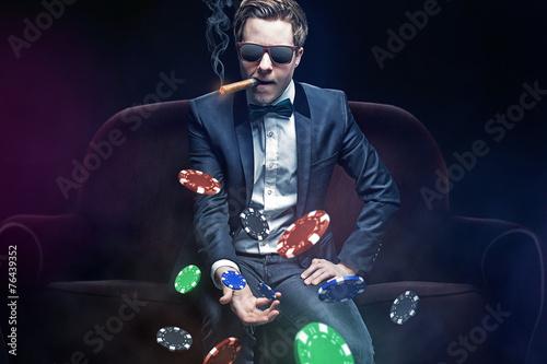 Foto  Poker Spieler