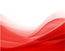 Vector Abstract Red Wavy Backg...