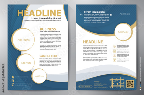Brochure design a4 vector template Poster