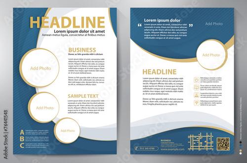 Photo  Brochure design a4 vector template