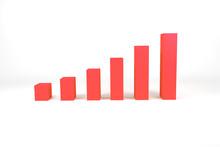 Red Bar Diagram On White Surface Illustration
