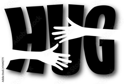 Fotografie, Obraz  hug