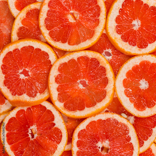 Sliced grapefruit fruits Poster