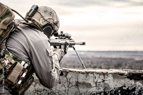 Fotografie, Obraz U.S. Army sniper