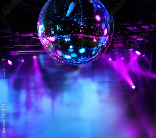 Fotomural Colorful disco mirror ball lights