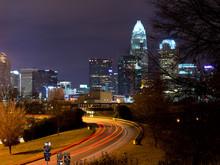 Skyline Of Charlotte, NC At Ni...