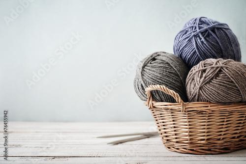 Fototapeta Wool yarn in coils
