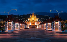 Ho Kham Luang Northern Thai Style Building In Royal Flora Expo,C