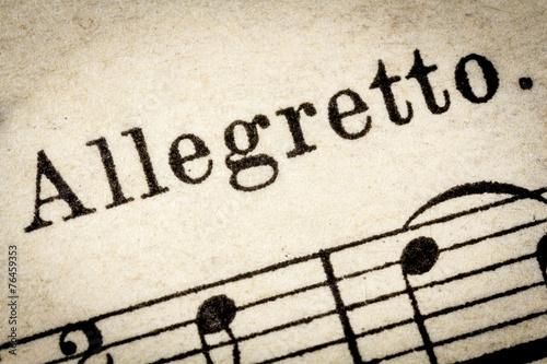 allegretto  - fast music tempo Canvas Print