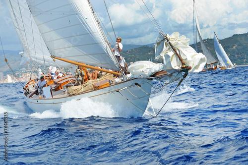 Türaufkleber Schiff Yacht