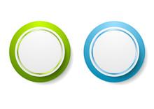 Abstract Green And Blue Circle...