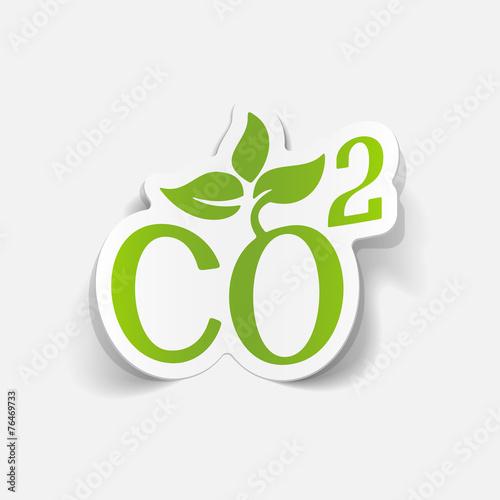 Valokuva  realistic design element: co2 sign dioxide