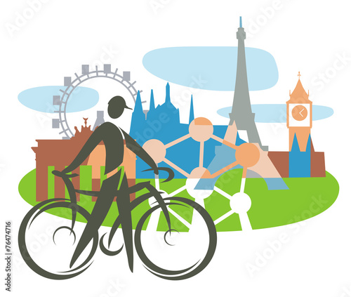 Photo Bicycle touring in Europe