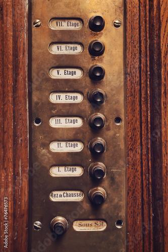 Fotografie, Obraz  ascenseur ancien étages