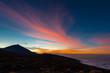 Sonnenuntergang im Teide Nationalpark auf Teneriffa