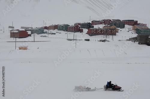 Papiers peints Arctique Longyearbyen auf Spitzbergen