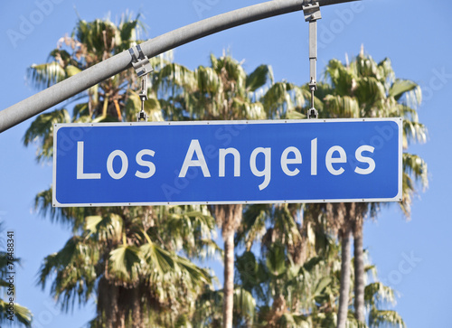 Staande foto Los Angeles Los Angeles Street Sign