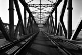 Most kratowy, kolejowy, Tczew, Polska - 76496538