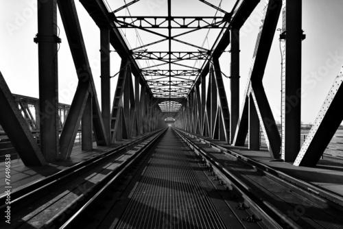 Most kratowy, kolejowy, Tczew, Polska