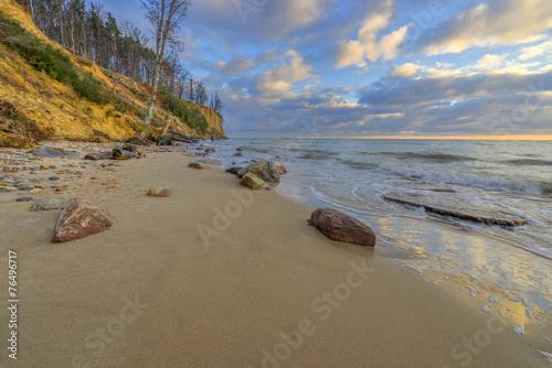Fotobehang - Klif, Morze Bałtyckie