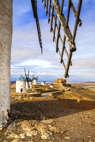 windmills of Don Quixote, Spain Canvas Print