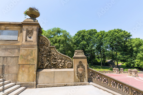 Central Park Bethesda Terrace stairs New York Poster
