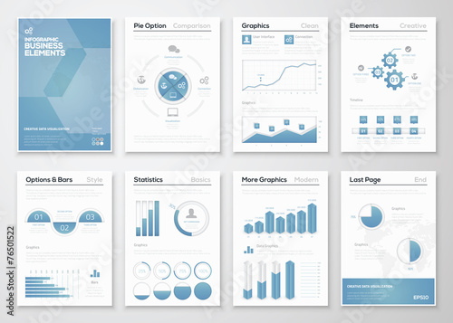 Photo  Infographic business vector elements for corporate brochures