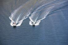 Two Speedboats On Blue Adriati...