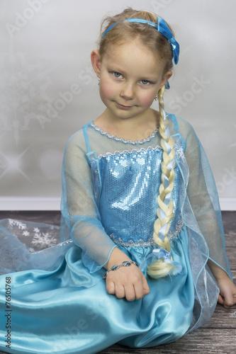 Fotografie, Obraz  Dziewczynka jako elsa