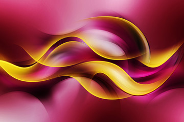 Panel Szklany Dym Beautiful Yellow Waves On a Purple Background