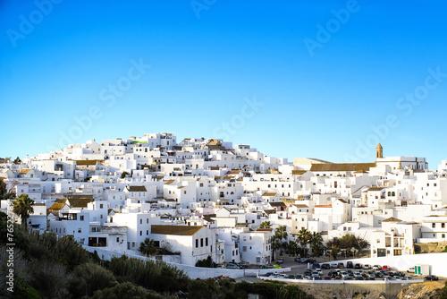 Carta da parati Landscape of a white town, Vejer de la Frontera in Andalusia, Sp