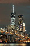 Fototapeta Bridge - Manhattan at night