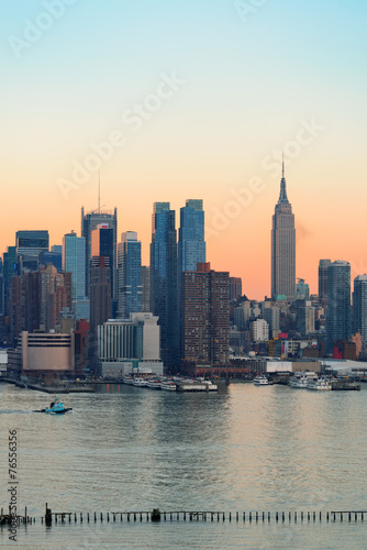 Fototapety, obrazy: New York City sunset