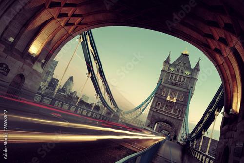 Tower Bridge morning traffic
