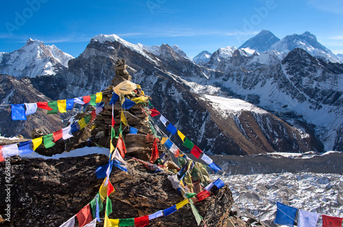 Wall Murals Nepal View of Everest from Gokyo ri .