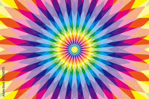Cadres-photo bureau Psychedelique 背景,素材,壁紙,虹色,七色,カラフル,ラテン風,エスニック風,エスニック模様,ひし形,菱形,放射状,メキシコ風,サイケデリック