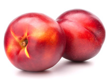 Nectarine Fruit Isolated On Wh...
