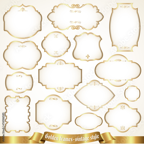 Golden frames - vintage style - Buy this stock vector and explore ...