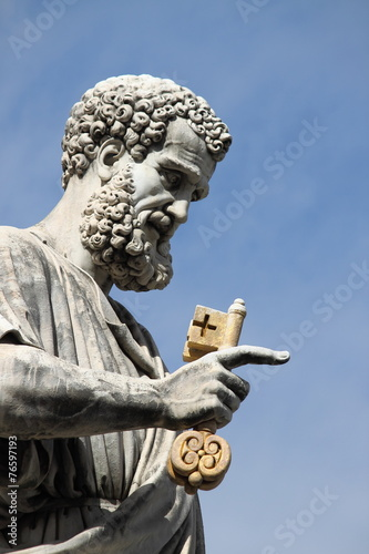 Fotografie, Tablou Statue of Saint Peter the Apostle in Rome, Italy