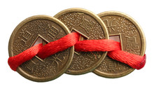 Feng Shui Coins Isolated On Wh...