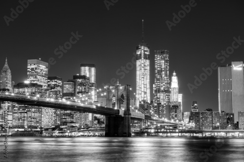 Fototapeta Black and White New York Skyline obraz na płótnie