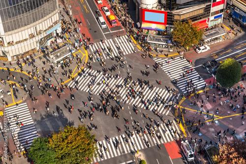 Foto op Aluminium Tokyo Shibuya Crossing, Tokyo, Japan.
