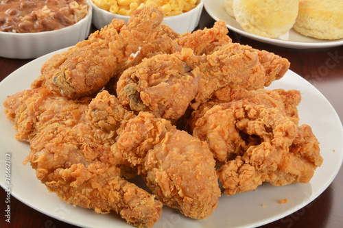 Keuken foto achterwand Kip Fried chicken