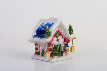 Christmas house made of porcelain