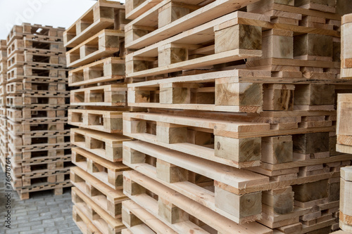 Fotografie, Obraz  Stock wooden pallets