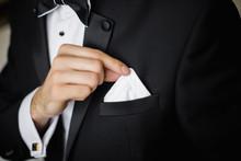 Groom Prepare For The Wedding