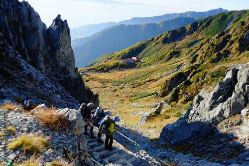 Staande foto Alpinisme 千畳敷を見下ろす